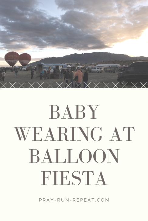baby wearing balloon fiesta